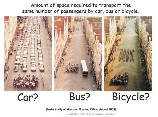 Cities, buses, and bikes